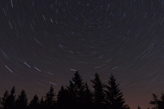 Фото бесплатно природа, пейзаж, звезда ночь