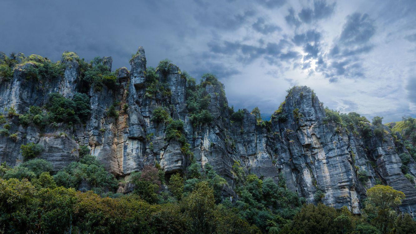 Фото бесплатно piopio, новая зеландия, скалы, камни, трава, деревья, new zealand, rocks, stones, grass, trees, пейзажи