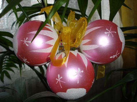Фото бесплатно рождественские украшения, воздушные шары, букет