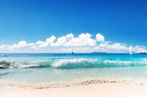Бесплатные фото море, пляж, яхты