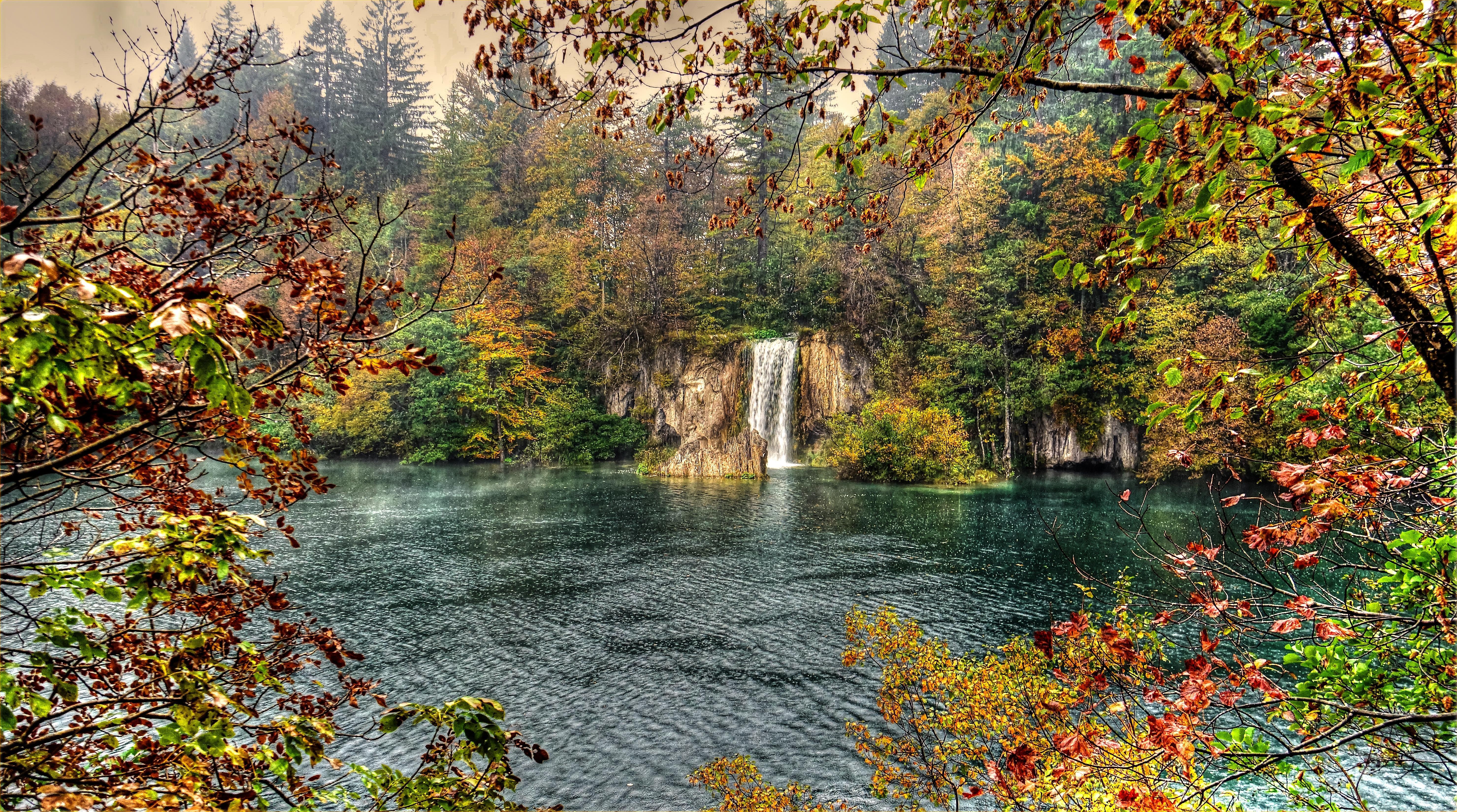 Обои Плитвицкие озера хорватский национальный парк, Плитвицкие Озера, Хорватия, водопад