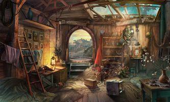 Бесплатные фото развалины,руины,комната,вещи,лампа,интерьер