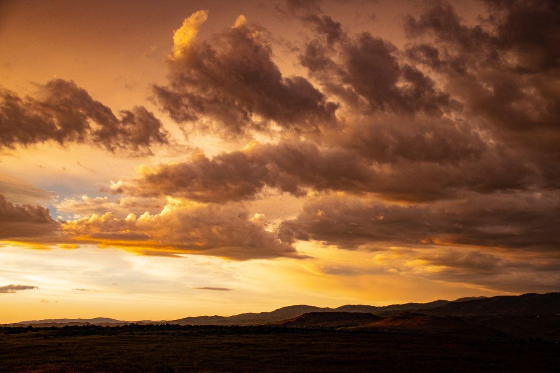 Фото бесплатно Clouds, Dusk, Orange - на рабочий стол