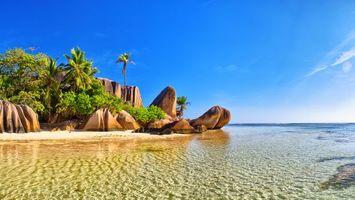 Бесплатные фото тропики,Сейшелы,море,остров,пляж