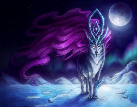 Photo free wolf, moon, fantasy
