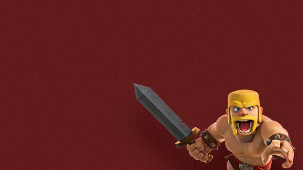 Фото бесплатно игры, Clash Of Clans, варвар