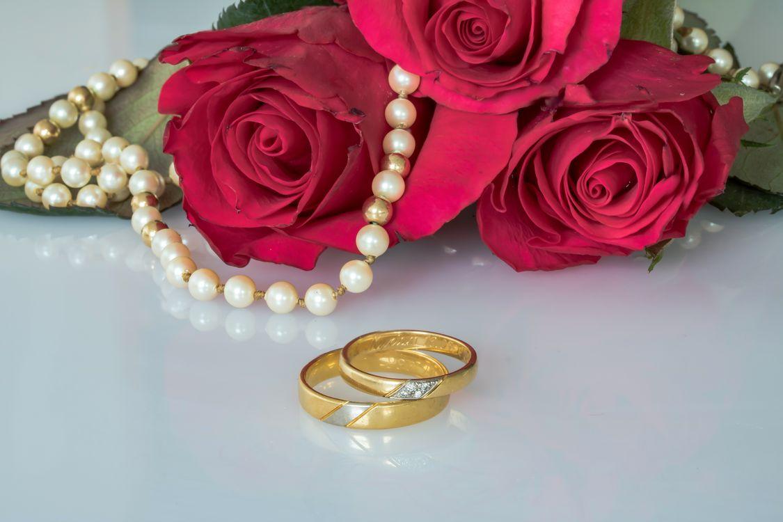 цветы и кольца · бесплатное фото
