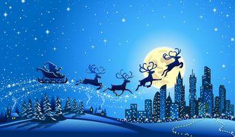 Санта Клаус и олени)