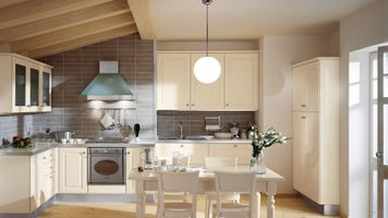 Бесплатные фото дизайн, кухня, стулья, интерьер, стол, цветы, мебель