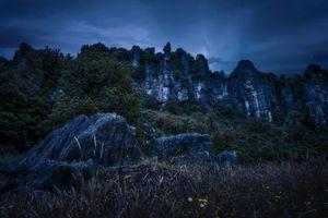 Бесплатные фото piopio,новая зеландия,горы,скалы,трава,вечер,new zealand