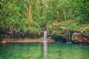 Заставки водопад, водоём, лес