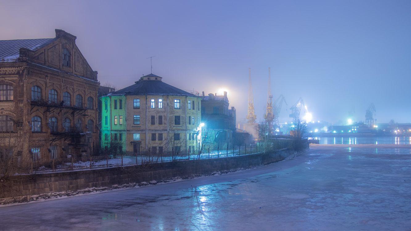 Фото бесплатно Winter fog, St Petersburg - на рабочий стол