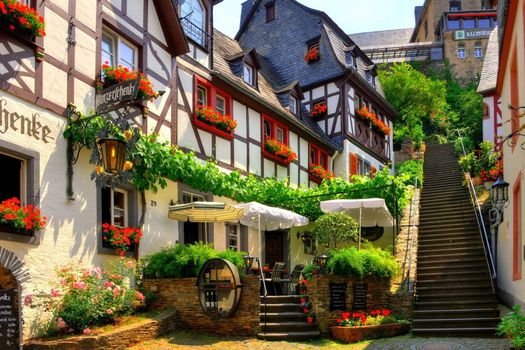 Photo free street, house, village