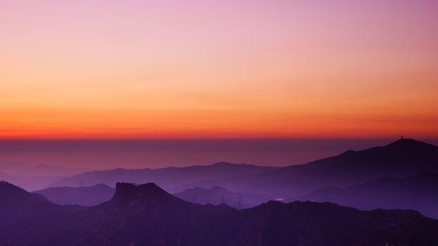 Фото бесплатно закат, горизонт, горы