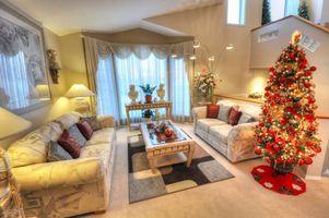 Новогодний дизайн комнаты