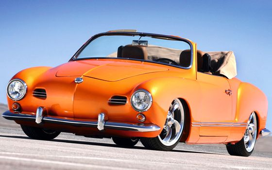 Photo free orange car, Volkswagen, convertible
