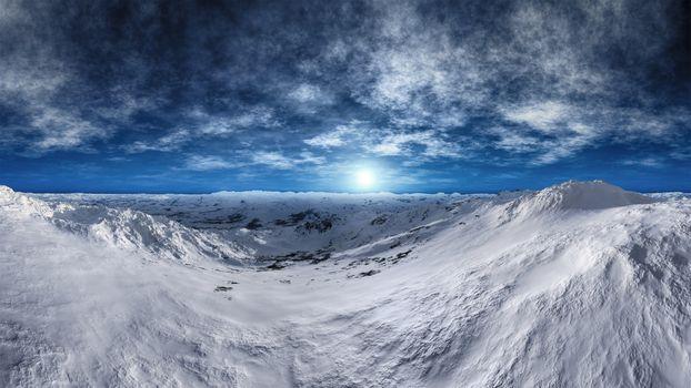 Фото бесплатно замерзшая тундра, снег, красота