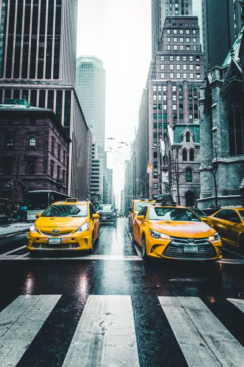 Фото бесплатно такси, небоскребы, город, движение, taxi, skyscrapers, city, traffic, город