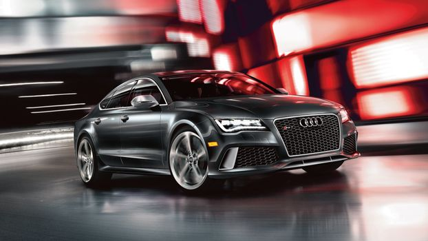 Photo free audi rs7, black, side view