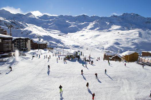 Фото бесплатно горные лыжи, трасса, спортивный инвентарь