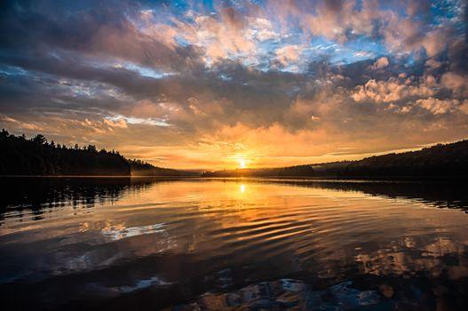 Фото бесплатно восход, природа, вечер