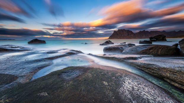 Заставки морской пейзаж, скалы, береговая линия