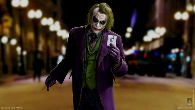 Photo free joker, Heath Ledger, map