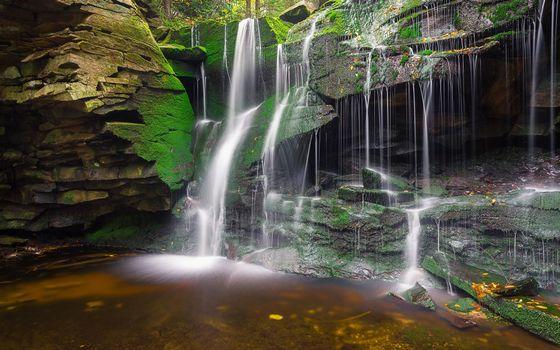 Фото бесплатно водопад, скалы, водоём