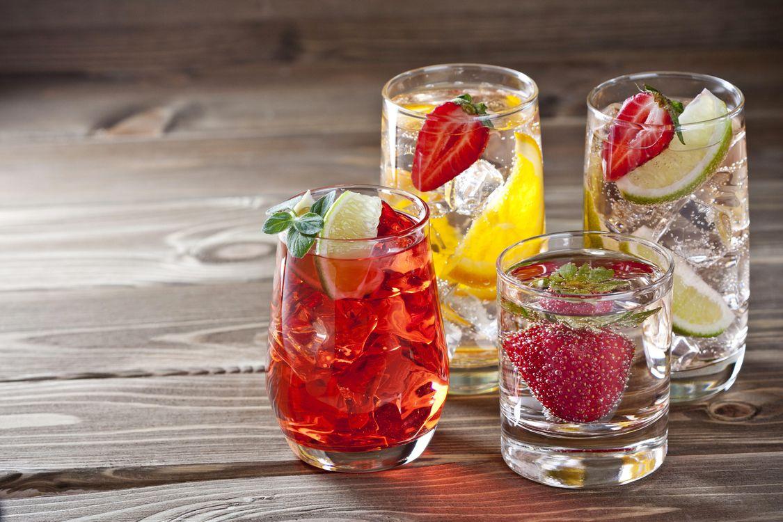 Фото бесплатно напитки, лимонад, фрукты - на рабочий стол