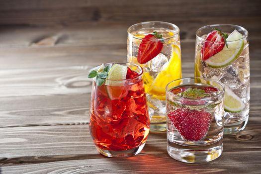 Заставки напитки, лимонад, фрукты