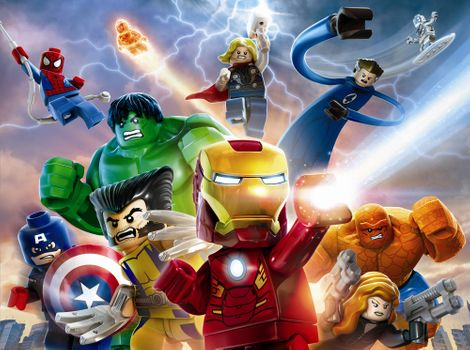 Заставки LEGO,Marvel Super Heroes,видеоигры