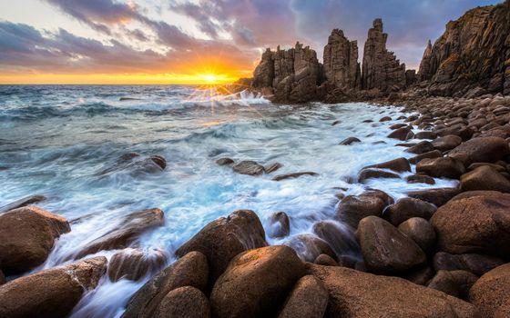 Бесплатные фото Австралия,Мыс Вуламай,Остров,облака,пейзаж,океан