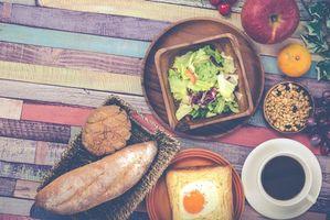 Заставки хлеб, тост, завтрак, кофе, салат, фрукты