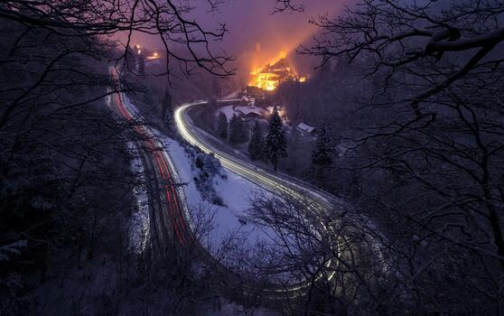 Photo free nature, road, long exposure