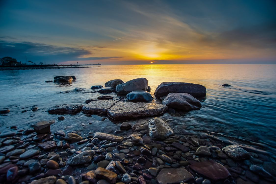 Photo nature sea sunrise and sunset - free pictures on Fonwall