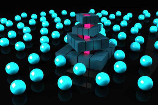 3Д шарики · бесплатное фото