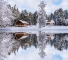 Бесплатные фото зима,озеро,снег,деревья,отражение,лес,пейзаж