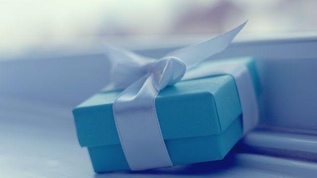 Photo free blue, boxes, ribbon