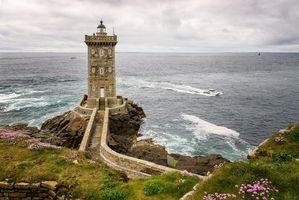 Фото бесплатно маяк Керморван, Провинция Финистер, Франция, Бретань