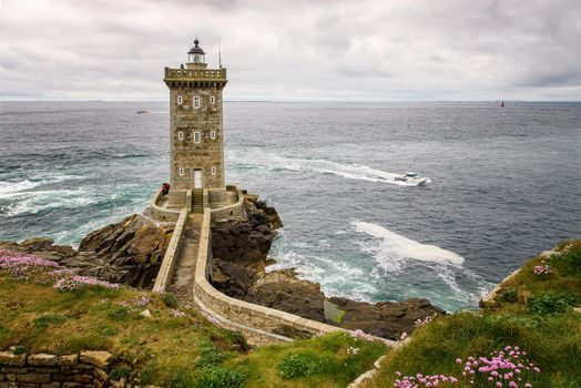 Заставки маяк Керморван, Провинция Финистер, Франция