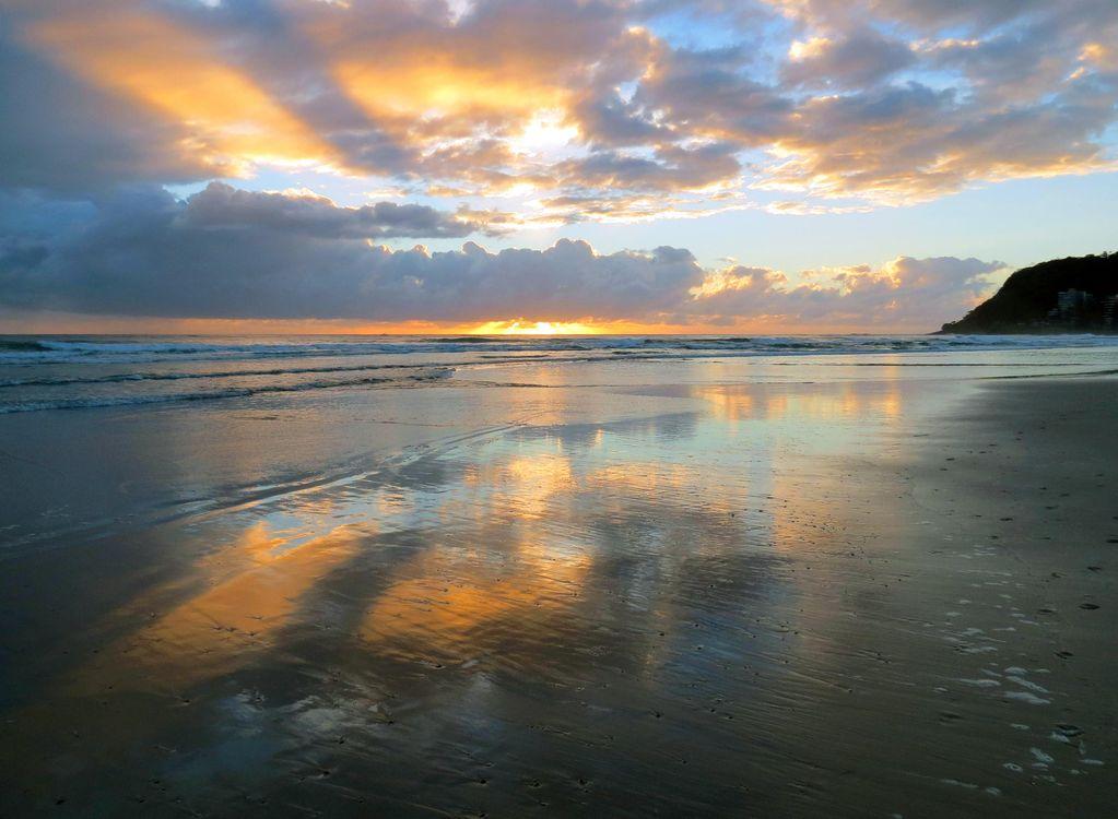Фото бесплатно море, пляж, закат, пейзажи