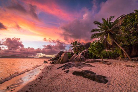 Photo free Seychelles, coast, sunset