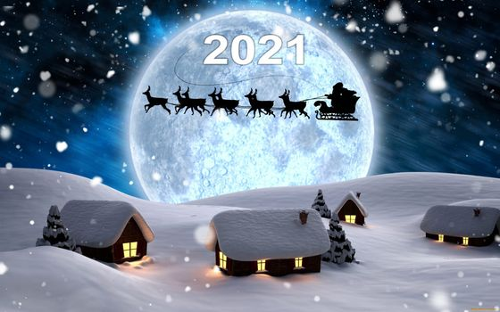 Photo free New Year 2021, rendering, Santa Claus