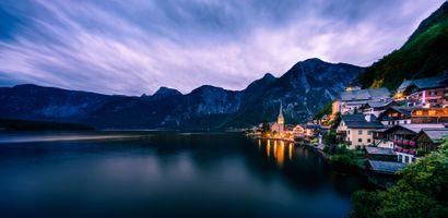 Бесплатные фото Hallstatt,Austria,Хальштатт,Австрия,Гальштат,море,горы