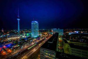 Заставки Берлин, телебашня, Германия, ночь, огни