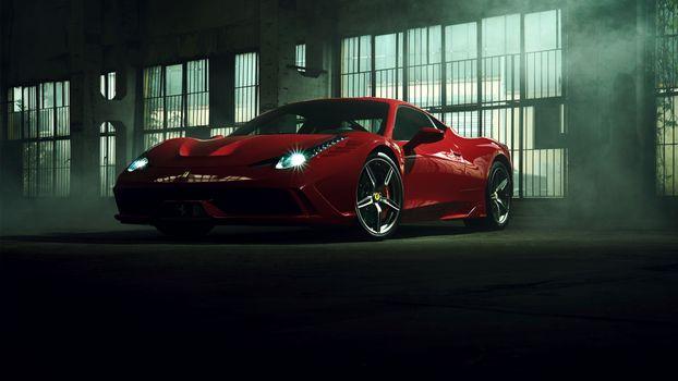 Фото бесплатно Ferrari, автомобили, Феррари 458
