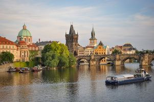 Фото бесплатно Prague, Vltava River, Charles Bridge, Прага, Влтава, Карлов мост, Чехия