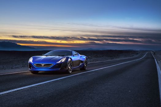 Photo free Rimac Concept One, cars, concept