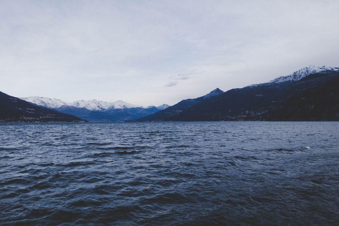 Фото бесплатно море, горы, небо, sea, mountains, sky, пейзажи