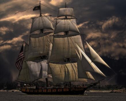 Фото бесплатно пейзаж, корабли и лодки, парусный спорт